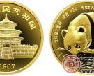 1987年版1/2盎司熊猫金币(精)