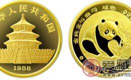 1988年版1/10盎司熊猫金币