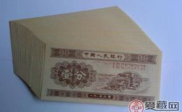 1953年的一分钱纸币回收价格有区别