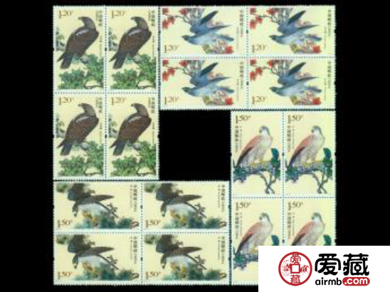 014-2 猛禽二(四方连)邮票价值介绍