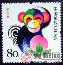 2004-1生肖猴小版票(100版)收藏价值