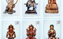 金铜佛造像邮票大版票是庆祝佛教成立六十周年二发行的