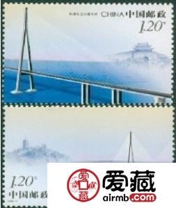 2008-8 苏通长江公路大桥大版票