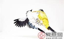 用纸艺制作出 鸟主题立体邮票