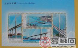 HK S182M 昂船洲大橋小全張郵票圖片欣賞和介紹