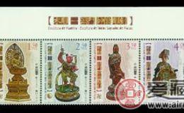 AM S0124 木雕--澳门神像雕刻邮票特色突出