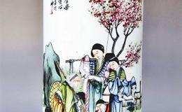 """传统瓷器上的""""严母"""":昔孟母 择邻处"""