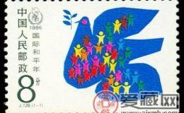 闯128国际和平年邮票的行情和收藏意义