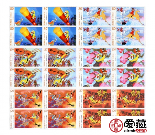 2014-11大闹天宫大版邮票