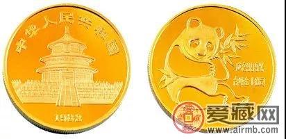 1982版1盎司熊猫纪念金币