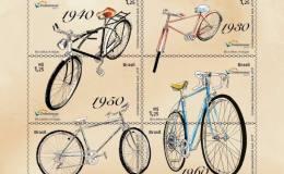 巴西2017年《经典自行车》邮票小全张
