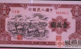 1951年马群图案纸币收藏