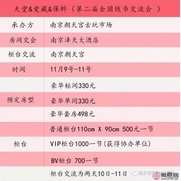 天堂&爱藏&保粹联合举办《第二届全国钱币交流会》