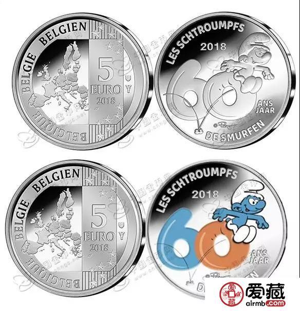 比利时发行蓝精灵诞生60周年纪念银币!