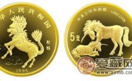 铂金麒麟大全套(5枚)金银币鉴赏