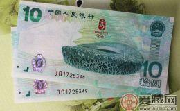 08年奧運紀念鈔收藏價格