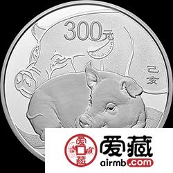2019年猪年金银币1公斤圆形银币