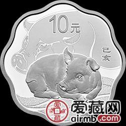2019年生肖金银币猪年金银币30克梅花银币