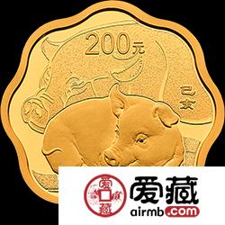 2019生肖金银币猪年金银币15克梅花激情乱伦