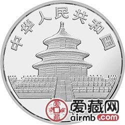 1984版熊猫金银铜币27克大熊猫银币