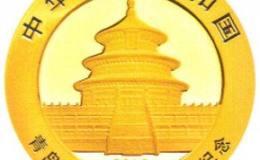 青岛银行成立20周年金银币8克熊猫加字金币