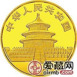1985年熊猫金银铜币1/2盎司大熊猫金币