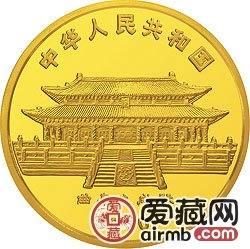 1990中国庚午马年金银铂币1盎司唐马图金币