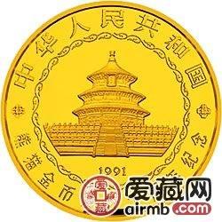 中國熊貓金幣發行10周年金銀幣5公斤不同姿態的大熊貓金幣