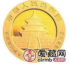 招商银行成立25周年暨上市10周年金银币熊猫加字1/4盎司金币