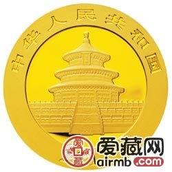2011版熊猫金银币1/10盎司熊猫金币