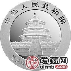 京沪高速铁路开通金银币熊猫加字1盎司银币