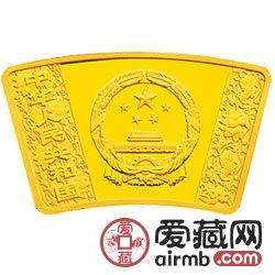 2012中国壬辰龙年金银币1/3盎司扇形金币