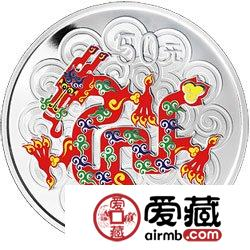2012中国壬辰龙年金银币5盎司彩色银币