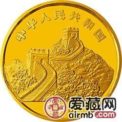 """""""擁有一片故土""""中國名勝金銀幣1/10盎司恒山金幣"""