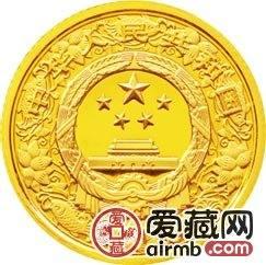 2011中國辛卯兔年金銀幣1/10盎司彩色金幣