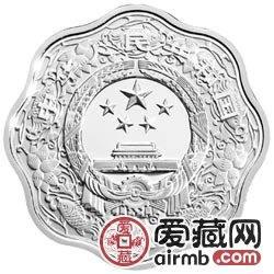 2010中国庚寅虎年金银币1盎司梅花形虎年银币