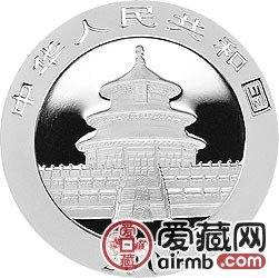2008版熊猫金银币1盎司银币