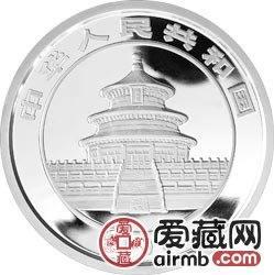 2008版熊猫金银币5盎司银币