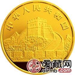 中国古代科技发明发现金银铂币1/4盎司太极图金币