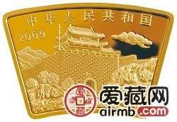 2009中国己丑牛年金银币1/2盎司扇形金币