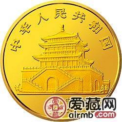 中国癸酉鸡年金银铂币5盎司白铭所绘《天地皆春》金币