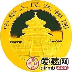 2008版熊貓金銀幣1/20盎司熊貓金幣