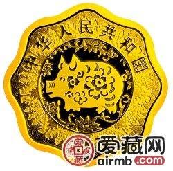 2007中国丁亥猪年金银币1/2盎司梅花形金币