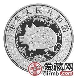 2007中国丁亥猪年金银币1盎司母子猪图彩色银币