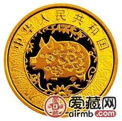 2007中国丁亥猪年金银币1/10盎司母子猪图彩色激情乱伦