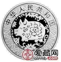 2007中国丁亥猪年金银币1盎司银币