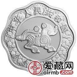 2006中国丙戌狗年金银币1盎司梅花形银币