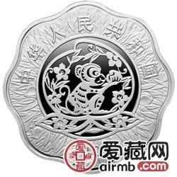 2004中国甲申猴年金银币1盎司梅花形银币