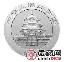 2004版熊猫贵金属纪念币5盎司银币