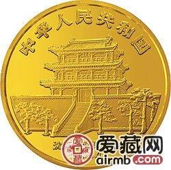 中国甲戌狗年金银铂币5盎司郎世宁所绘狗金币